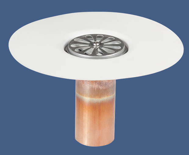 Spun Copper Deck Drain Tpo Ham Building Supplies